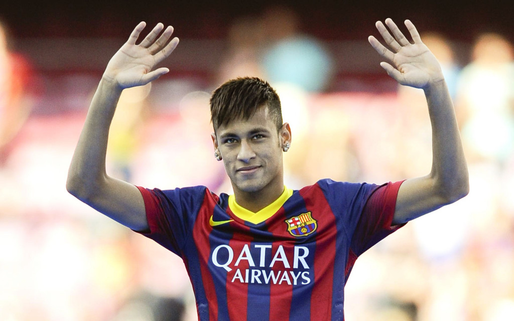 Neymar Is Unveiled At Camp Nou As New Barcelona Signing